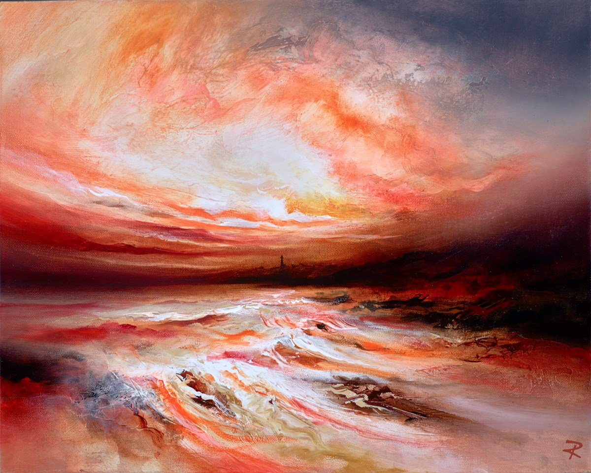 Dusky Shores II by chris and steve rocks -  sized 20x16 inches. Available from Whitewall Galleries